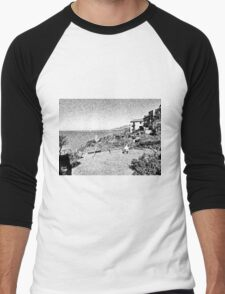 Agropoli: landscape with sea and tower Men's Baseball ¾ T-Shirt
