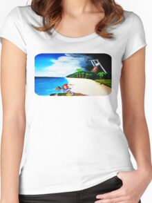 Link's Awakening Washed Ashore  Women's Fitted Scoop T-Shirt