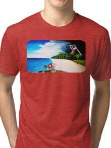 Link's Awakening Washed Ashore  Tri-blend T-Shirt