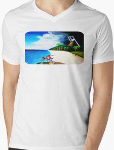 Link's Awakening Washed Ashore  Mens V-Neck T-Shirt