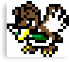 Pokemon 8-Bit Pixel Farfetch'd 083 Canvas Print