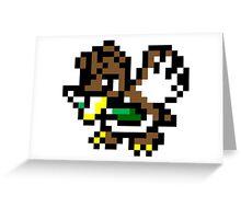 Pokemon 8-Bit Pixel Farfetch'd 083 Greeting Card