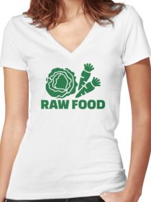 Raw food Women's Fitted V-Neck T-Shirt