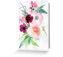 beautiful illustration of Hand Painted flower Wild  Greeting Card