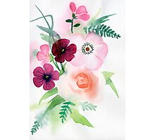 beautiful illustration of Hand Painted flower Wild  Photographic Print