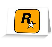 Rockstar Games Logo  Greeting Card