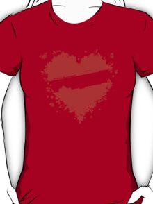 Floral heart shape T-Shirt