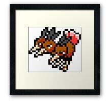 Pokemon 8-Bit Pixel Dodrio 085 Framed Print