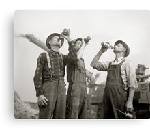 Farmers Drinking Beer, 1941 Canvas Print