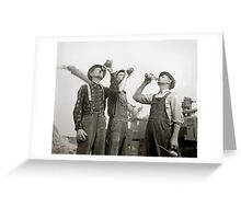 Farmers Drinking Beer, 1941 Greeting Card