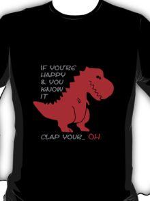 """Happy"" T-rex T-Shirt"