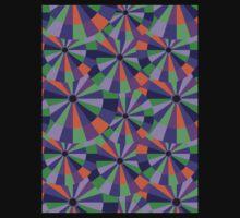 Green and Purple Futurist Circles T-Shirt