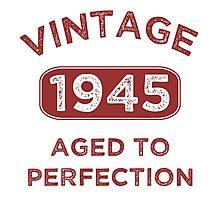 1945 Vintage Distressed Photographic Print