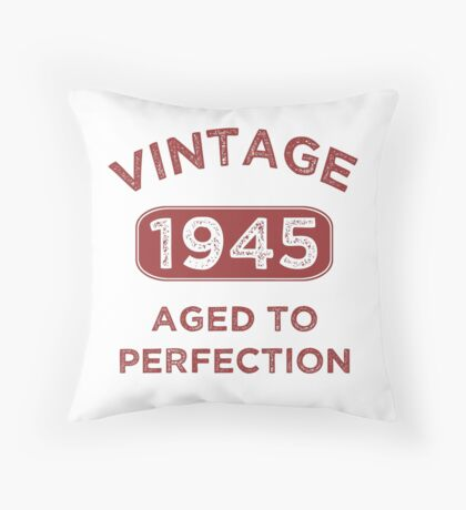1945 Vintage Distressed Throw Pillow