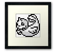 Pokemon 8-Bit Pixel Dewgong 087 Framed Print