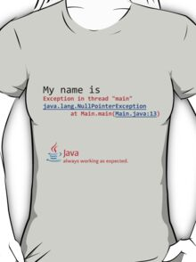 Java, always working as expected. T-Shirt