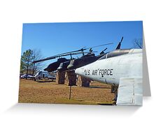 Helos and Fighter Planes Greeting Card