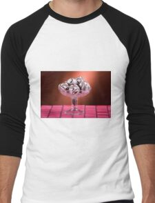 gingerbread cookies with icing of chocolate Men's Baseball ¾ T-Shirt