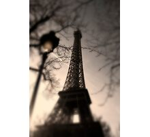 Tower Eiffel and Lamp Post Photographic Print