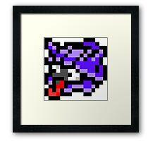 Pokemon 8-Bit Pixel Shellder 090 Framed Print