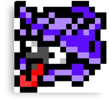 Pokemon 8-Bit Pixel Shellder 090 Canvas Print