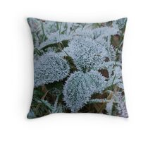 Ice Leaf Throw Pillow