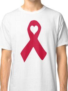 Aids ribbon heart Classic T-Shirt
