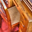 Taliesin West Desk in the Wright Bedroom by Roger Passman