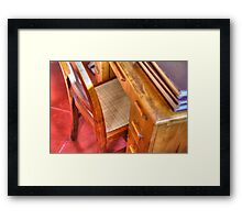 Taliesin West Desk in the Wright Bedroom Framed Print