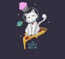 The Internet Made Me // Pizza Space Cat Unisex T-Shirt