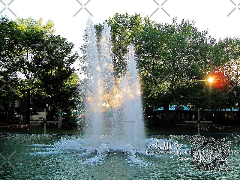evening fountain by LoreLeft27