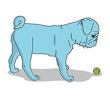 Pug and Ball Photographic Print