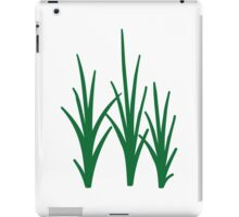 Green reed grass iPad Case/Skin