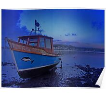 Dolphin Boat Poster