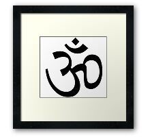 Om Ohm Black Framed Print