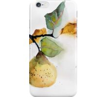 Watercolor illustration of pear iPhone Case/Skin
