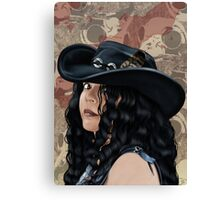That Girl in the Black Hat Canvas Print