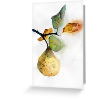 Watercolor illustration of pear Greeting Card