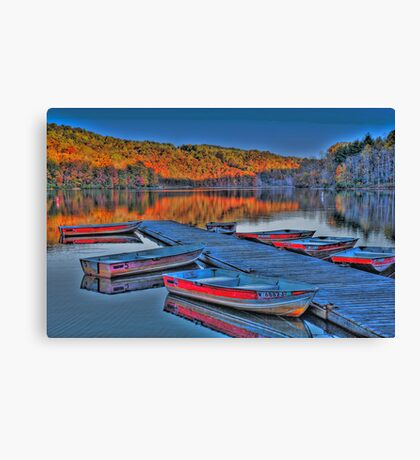 Dockside HDR Canvas Print