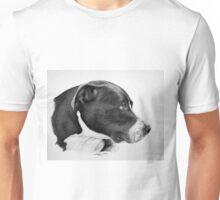 """""""Compassionate Gaze"""" - Pit Bull mix Portrait Unisex T-Shirt"""