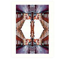 Old Town Street After Rain 4C Art Print