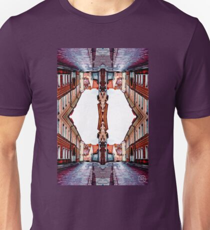 Old Town Street After Rain 4C Unisex T-Shirt
