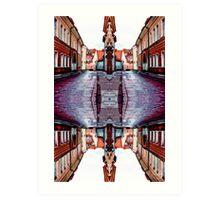 Old Town Street After Rain 4B Art Print