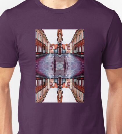 Old Town Street After Rain 4B Unisex T-Shirt