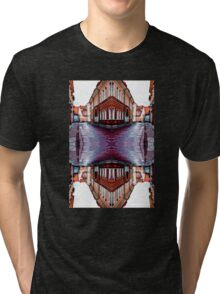 Old Town Street After Rain 4A Tri-blend T-Shirt