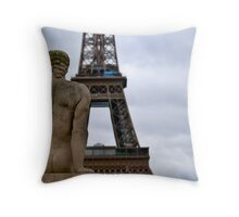 The Tower Behind Throw Pillow