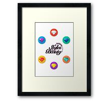 Be Gorgeous Styles By Mimmie Framed Print
