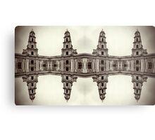 The clones of the church ruins sepia Metal Print