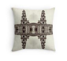The clones of the church ruins sepia Throw Pillow