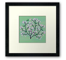 Cherry Blossoms and Birds Framed Print